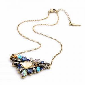 Necklace With Blue Crystals. Click here for more beautiful statement necklaces. Shop all musthave jewellery by Aphrodite. Free worldwide shipping and gift.