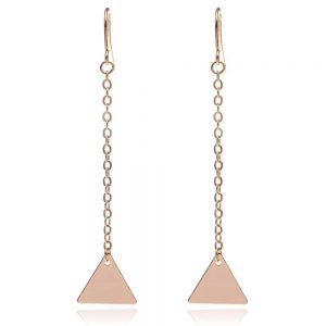 Long Triangle Earrings. Click here for more delicate earrings. Shop all musthave jewellery by Aphrodite. Free worldwide shipping and gift.