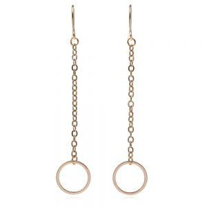 Gold Long Circle Earrings. Click here for more delicate earrings. Shop all musthave jewellery by Aphrodite. Free worldwide shipping and gift.