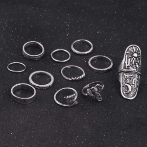 musthave, ,sieraden,11 stuks boho, bohemien, bohemian, ring sets, ringen, zilver,aphrodite