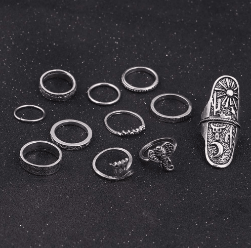 11 Pcs Boho Ring Set.Click hear to shop more beautiful rings. Shop all musthave jewellery by aphrodite. Free worldwide shipping and gift.