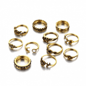 11 Pcs Ring Set, jewellery, musthave, gold, fashion, women