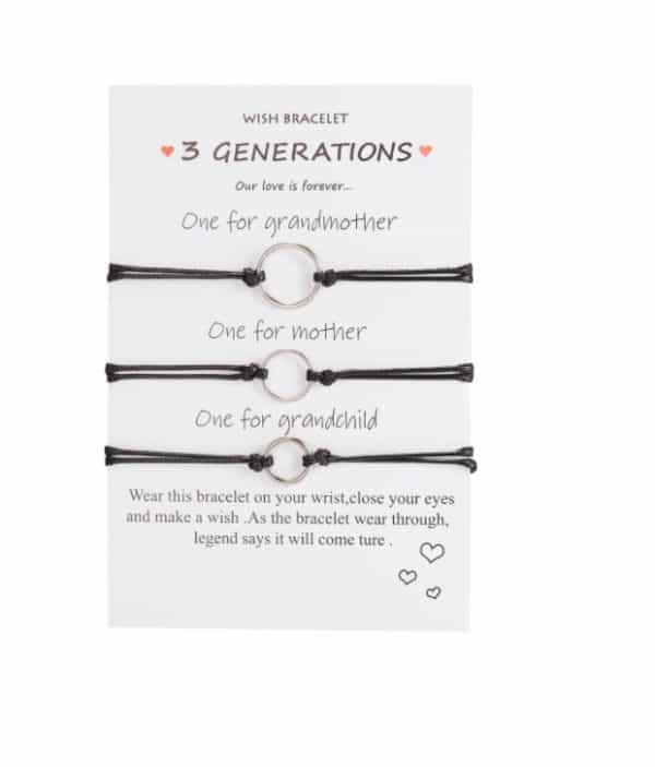 3 generatie, armbanden, sieraden, moeder, kleindochter, dochter, relatie