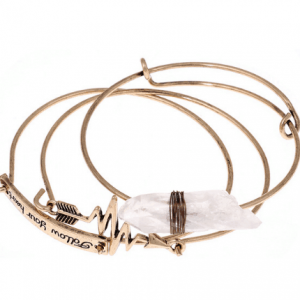 shop 3 pcs arrow bangle set