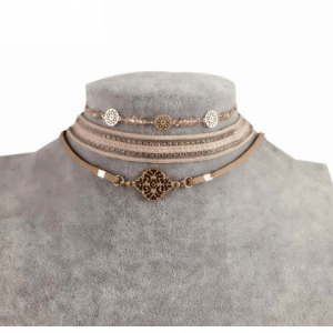 3 Pcs Choker Set With Pink Beads.click hear to shop more beautiful chokers. Shop all musthave jewellery by aphrodite. Free worldwide shipping and gift.
