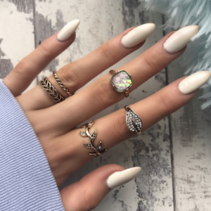ring set ,bladeren, 5 stuks, sieraden, fashion ,musthave