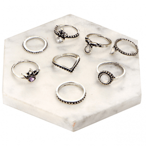 8 Pcs Ring Set Gold-Silver.click hear to shop more beautiful rings. Shop all musthave jewellery by aphrodite. Free worldwide shipping and gift.