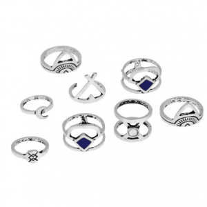 8 Pcs Antique Silver Ring Set.click here to shop more beautiful rings. Shop all musthave jewellery by aphrodite. Free worldwide shipping and gift.