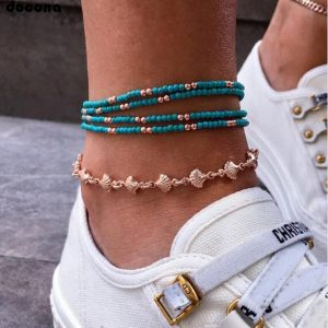 anklet, beads, shells, jewellery, ankle bracelet