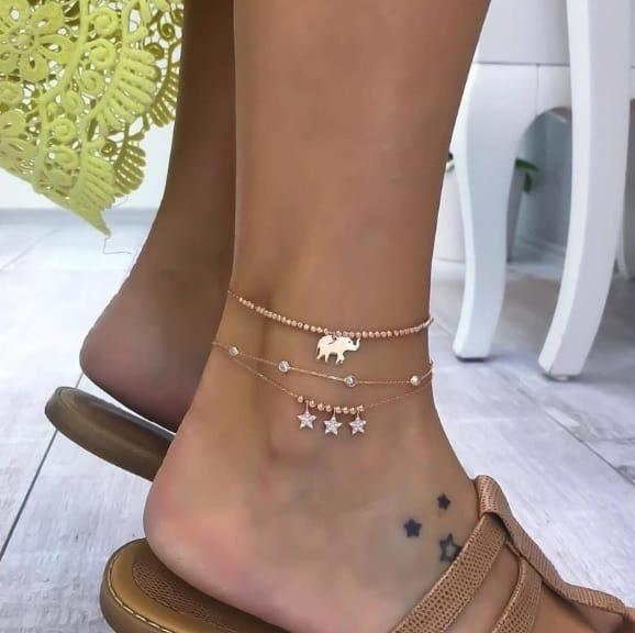anklet set, stars, jewellery, elephant