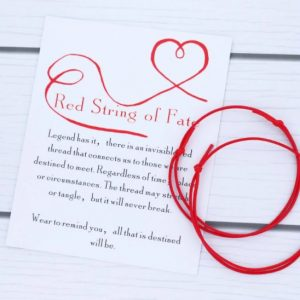 armband met betekenis, rood, touw, sieraad, sieraden, jewellery, jewelry. destiny