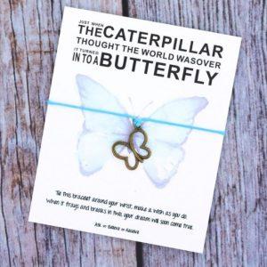 armband met betekenis, boodschap, vlinder, sieraden, dames, accessoires, blauw, vlinder