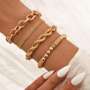 armbanden set, goud, sieraden, dames, accessoires, hippe, leuk, mooi, dames
