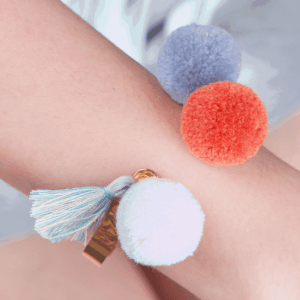 Pom Pom Cuff Bracelet. Click here for more beautiful cuff bracelets. Shop all musthave jewellery by Aphrodite. Free worldwide shipping and gift.