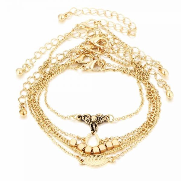 5 Pcs Elephant Bracelet Set. Click here for more beautiful bracelets. Shop all musthave jewellery by Aphrodite. Free worldwide shipping and gift.