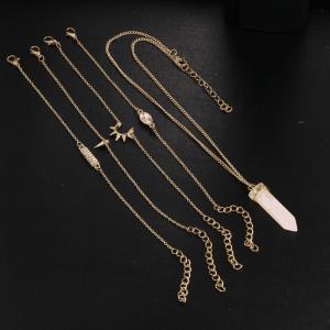 Pink Bracelets+Necklace Set