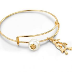 bangle bracelet, pinguin, gold, pearl, jewellery, aphrodite