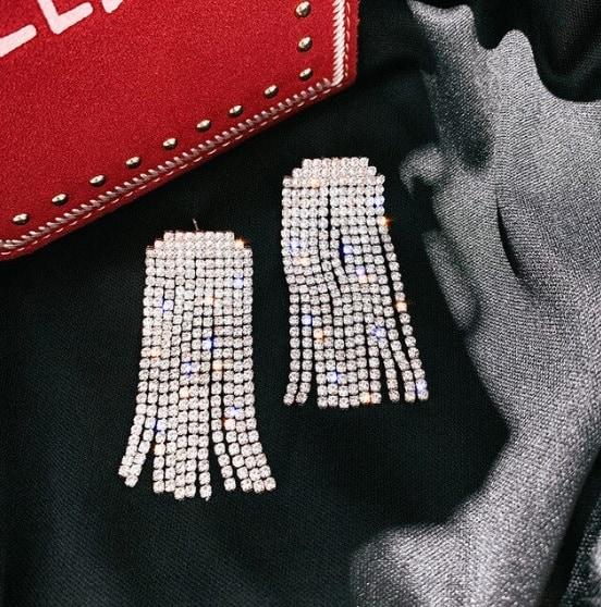 big earrings, large, zirconia, diamonds, crystals, jewellery