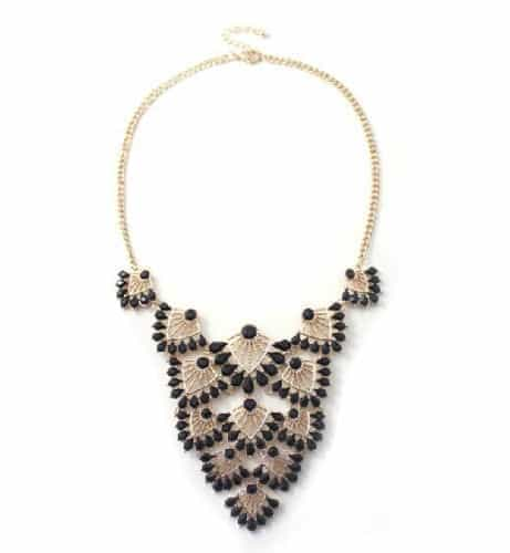 Statement Necklace With Black Gemstones. Click here for more statement necklaces. Shop all musthave jewellery by Aphrodite. Free worldwide shipping.