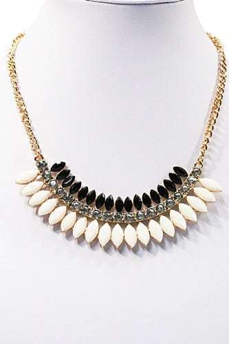Black And White Statement Necklace.click hear to shop more beautiful necklaces. Shop all musthave jewellery by aphrodite. Free worldwide shipping and gift.