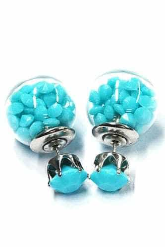 Earstuds With Blue Beads. click hear for more lovely earrings.shop all musthave jewellery by aphrodite.Free worldwide shipping and gift.