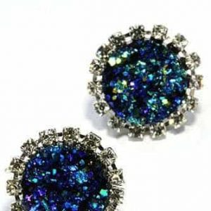 Druzy Earrings.click hear for more delicate earrings.shop all musthave jewellery by aphrodite.Free worldwide shipping and gift.