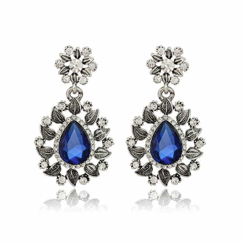 product blue gemstone stone ocean adiva bold earrings buy