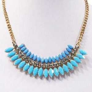 Statement Necklace With Light Blue Crystals. Click here for more statement necklaces. Shop all musthave jewellery by Aphrodite. Free worldwide shipping.