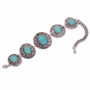 Bohemian Bracelet With Blue Stones. Click here for more beautiful boho bracelets. Shop all musthave jewellery by Aphrodite. Free worldwide shipping.