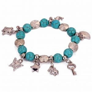 Blue Bracelet With Charms. Click here for more beautiful boho bracelets. Shop all musthave jewellery by Aphrodite. Free worldwide shipping and gift.