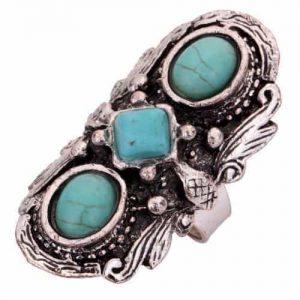 Blauwe Bohemian Ring. Klik hier voor meer leuke ringen. Shop alle musthave sieraden bij Aphrodite. Gratis verzending en cadeau.