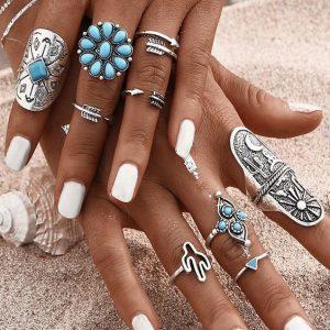 grote boho ringen samen met kleine ringen. Shop alle boho ringen bij aphrodite gratis verzending.