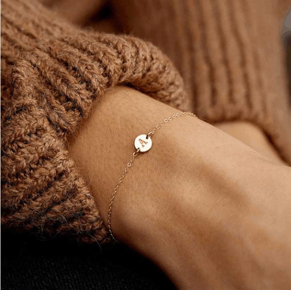 bracelet letter, initial, silver,gold , jewellery,