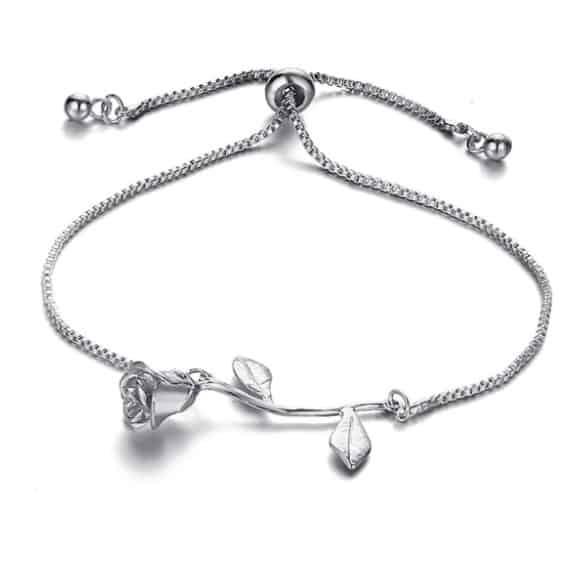 bracelet, rose, silver, gold, jewellery