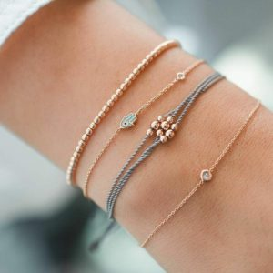 bracelet set, minimalist, subtle, delicate, hamsa hand, beads, jewellery, jewelry