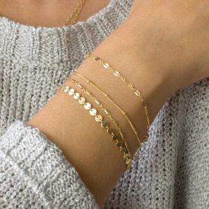 armbanden set, minimalistisch, fijn, subtiel, sieraden, dames, cadeau, vrouwen