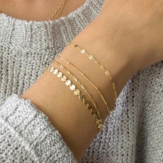 bracelet set, delicate, subtle, minimalist, jewellery, jewelry, women