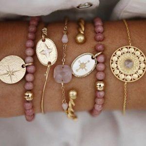 armbanden set, goud, sieraden, minimalistisch, subtiel, delicate