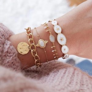 bracelet set, white, gold, jewellery, jewelry, aphrodite