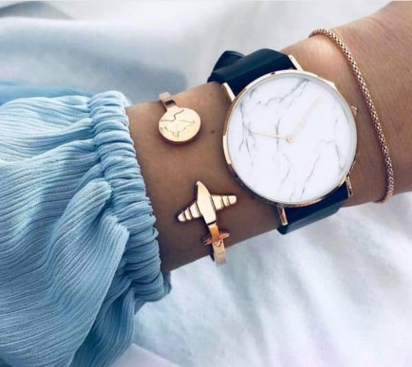 bracelet set, plane, gold, worldmap, jewellery