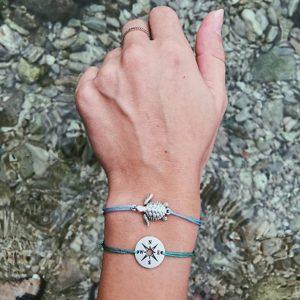 bracelet set, turtle, compass, jewellery, rope bracelet