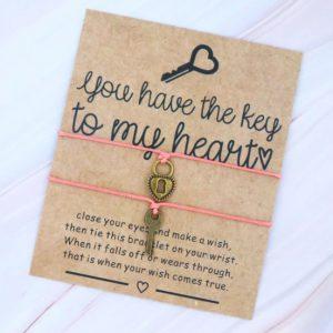 bracelet, meaning, jewellery, lock, key, women, gift, heart