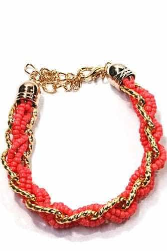 Pink Braided Bracelet. Click here for more beautiful bracelets. Shop all musthave jewellery by Aphrodite. Free worldwide shipping and gift.