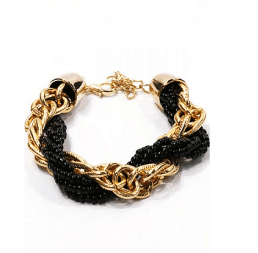 Braided Black Bracelet. Click here for more beautiful bracelets. Shop all musthave jewellery by Aphrodite. Free worldwide shipping and gift.