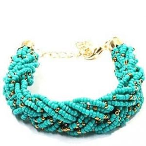 Blue Braided Bracelet, jewellery, treny, women
