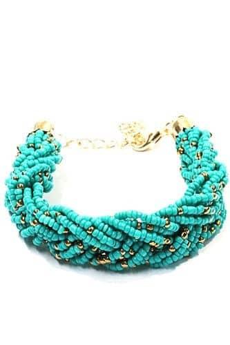 Blue Braided Bracelet, jewellery, treny, women