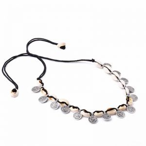 Choker With Coin And Shell. click hear to shop more beautiful chokers. Shop all musthave jewellery by aphrodite. Free worldwide shipping and gift.