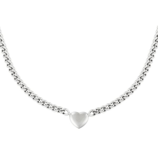 chain ketting, schakelketting, hartje, zilver, goud, nikkel vrij, stainless steel, rvs , roestvrij staal, sieraden, accessoires, dames