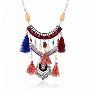 Colorful Bohemian Tassel Necklace. click hear to shop more beautiful necklaces. Shop all musthave jewellery by aphrodite. Free worldwide shipping and gift.