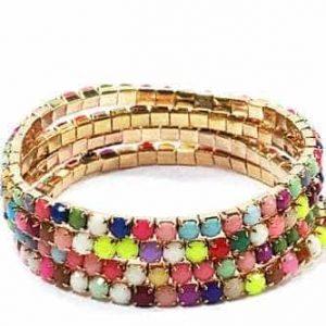armbanden set, kleurrijk, 4 stuks, sieraden, fashion